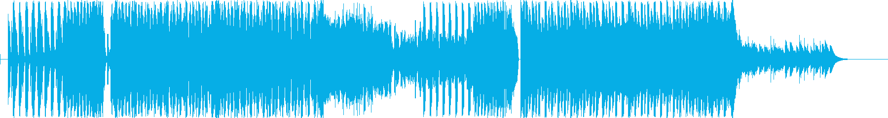 四つ打ちでアップテンポな洋楽風EDMの再生済みの波形