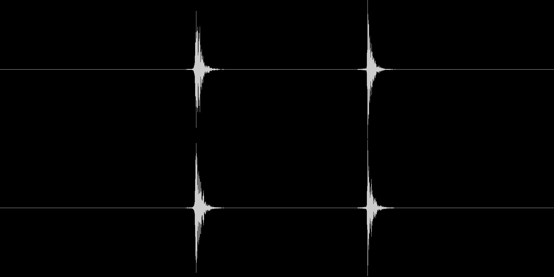 【生音】手・叩く - 3 「ぱんぱんっ」の未再生の波形