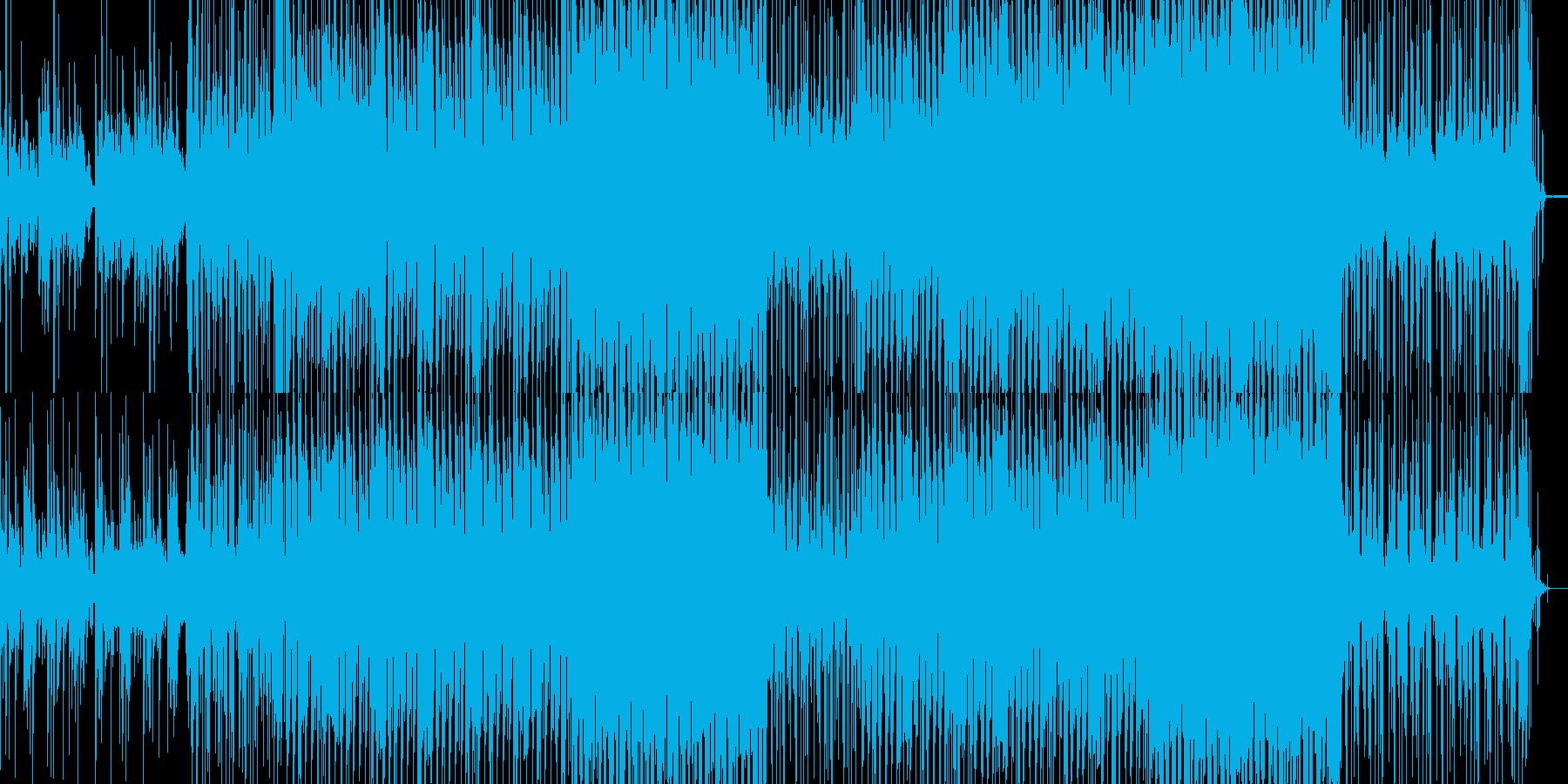 小気味良いリズムと懐かしいメロディの曲の再生済みの波形