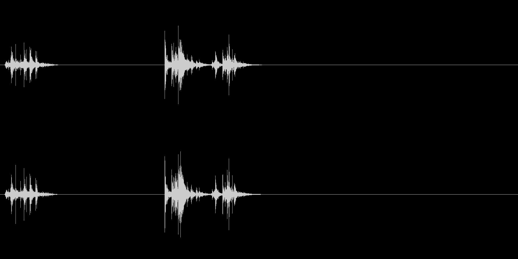 テーブルでのキーの移動の未再生の波形