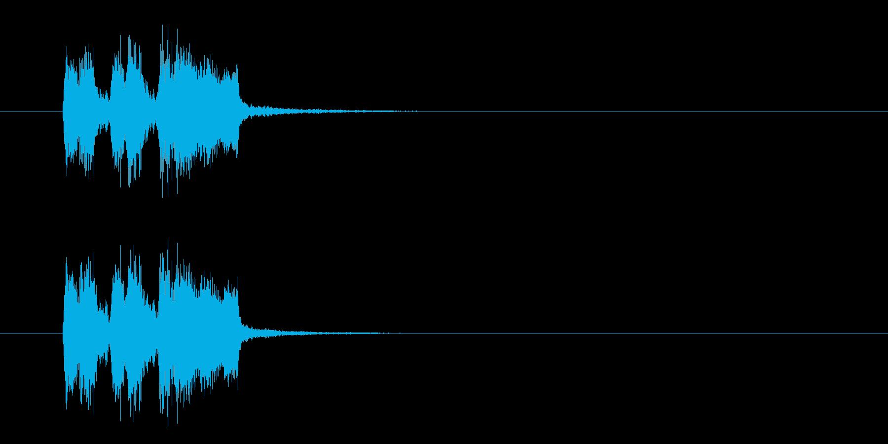 ジングル(シンプルなブラス)の再生済みの波形
