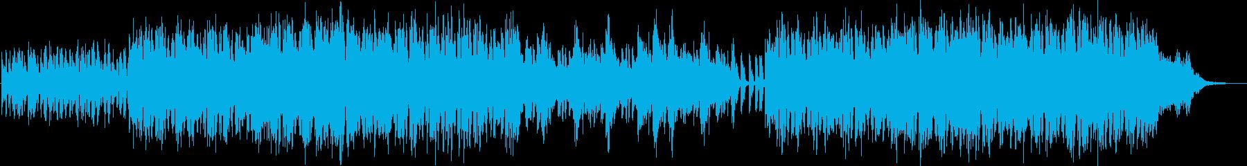 軽快で可愛いらしいBGMの再生済みの波形