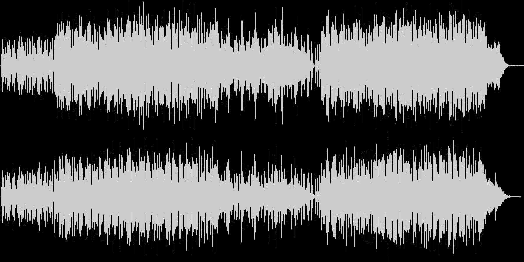 軽快で可愛いらしいBGMの未再生の波形