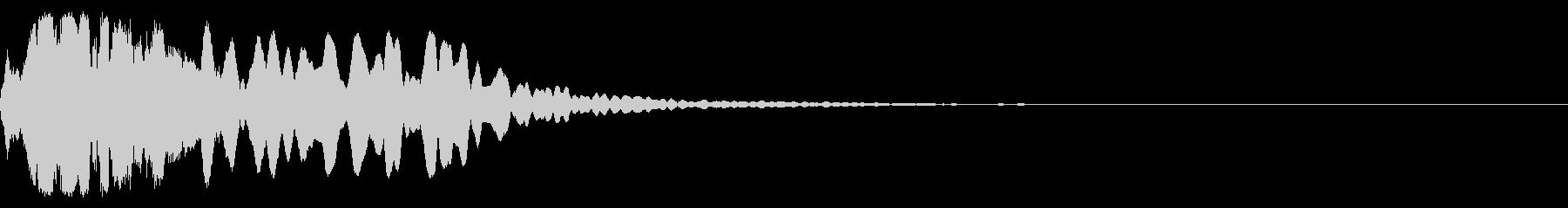 和楽器 尺八 ジングル 効果音の未再生の波形