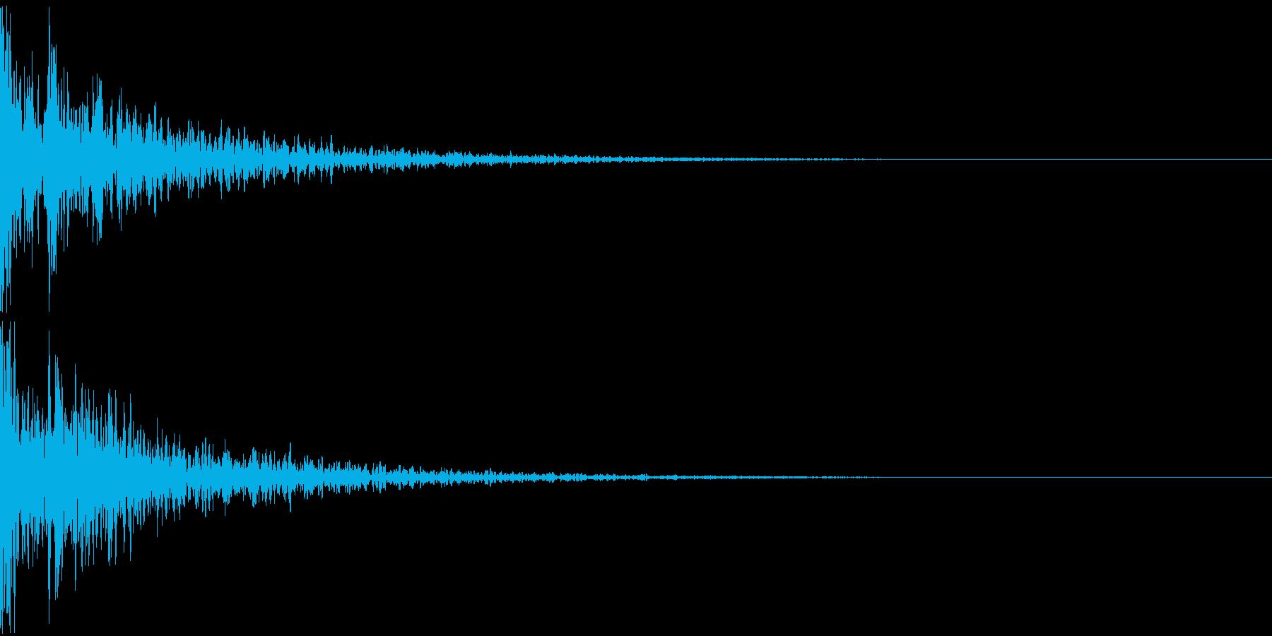 ドーン-09-2(インパクト音)の再生済みの波形
