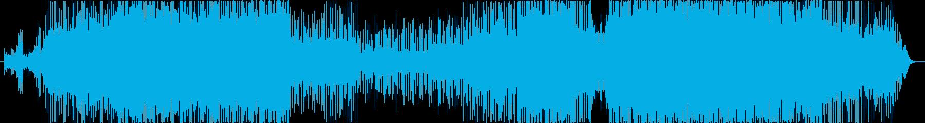 水面から深海を彷彿させるキラキラダンス曲の再生済みの波形
