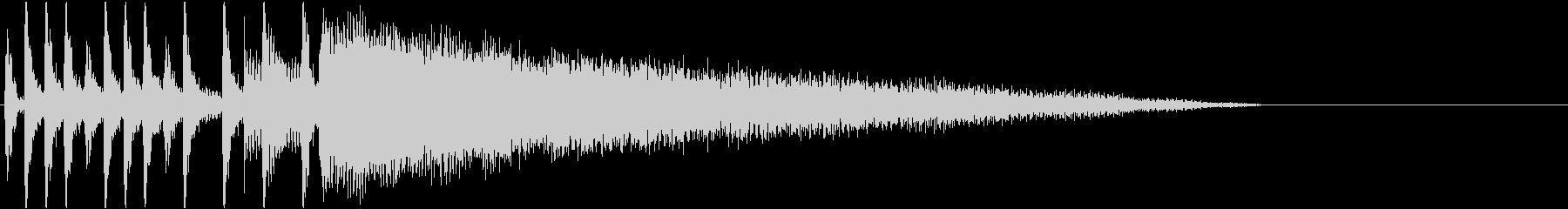 アイキャッチ・結果発表・バンド・ロックの未再生の波形