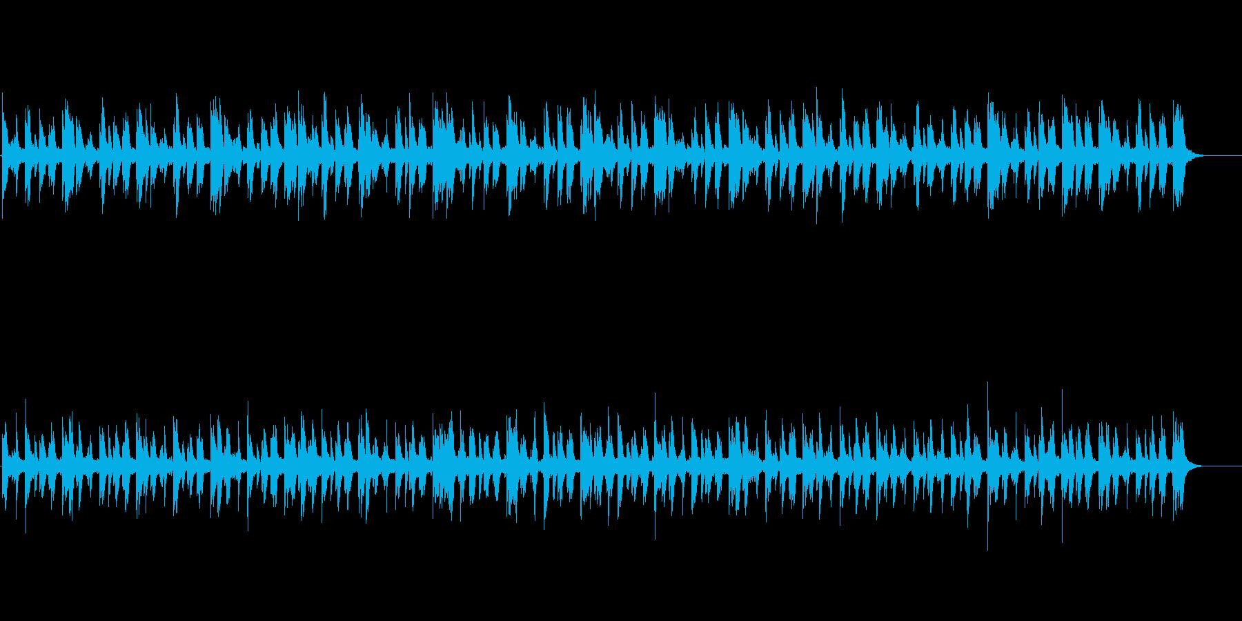 ピタゴラ装置の為の実験的ミニマルピアノの再生済みの波形