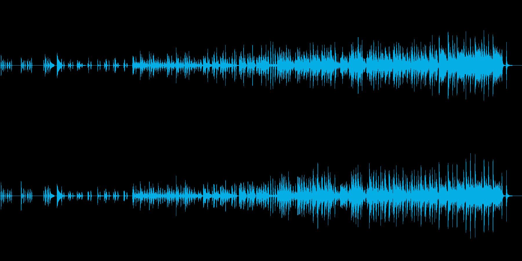 木漏れ日が似合うゆる〜り、のほほんBGMの再生済みの波形