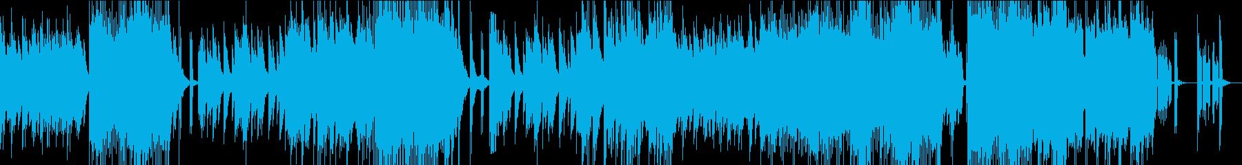 ピアノの旋律が印象的なバラードの再生済みの波形