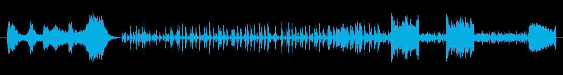フラメンコの情熱を想わせるギターの音色の再生済みの波形