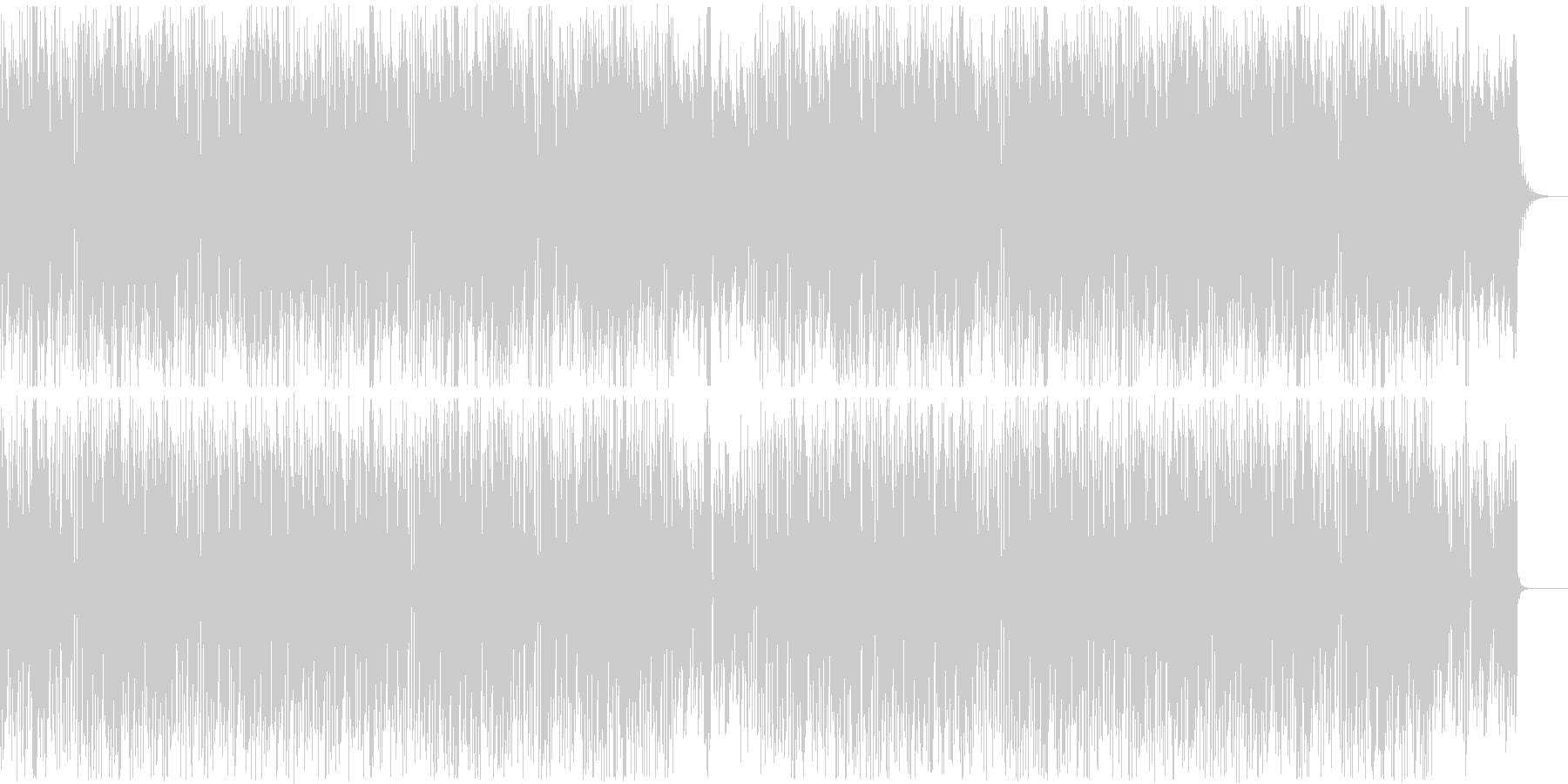 Gentle, warm and refreshing everyday atmosphere's unreproduced waveform