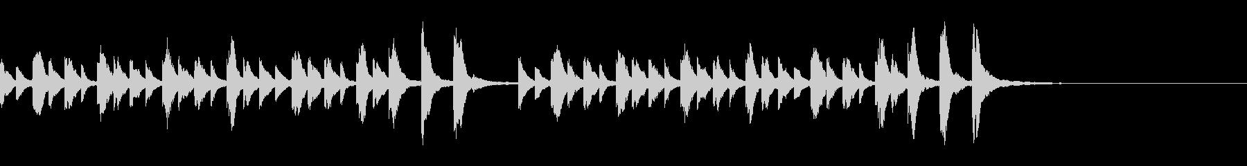 マレット系の可愛らしいメロディチャイムの未再生の波形