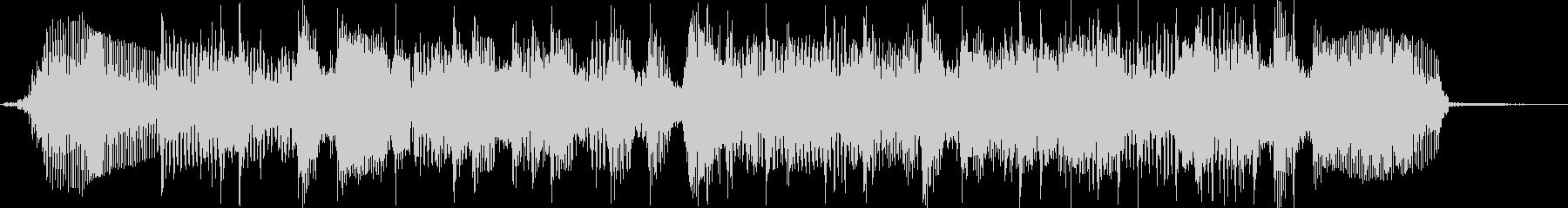ベースサウンドジングル曲の未再生の波形