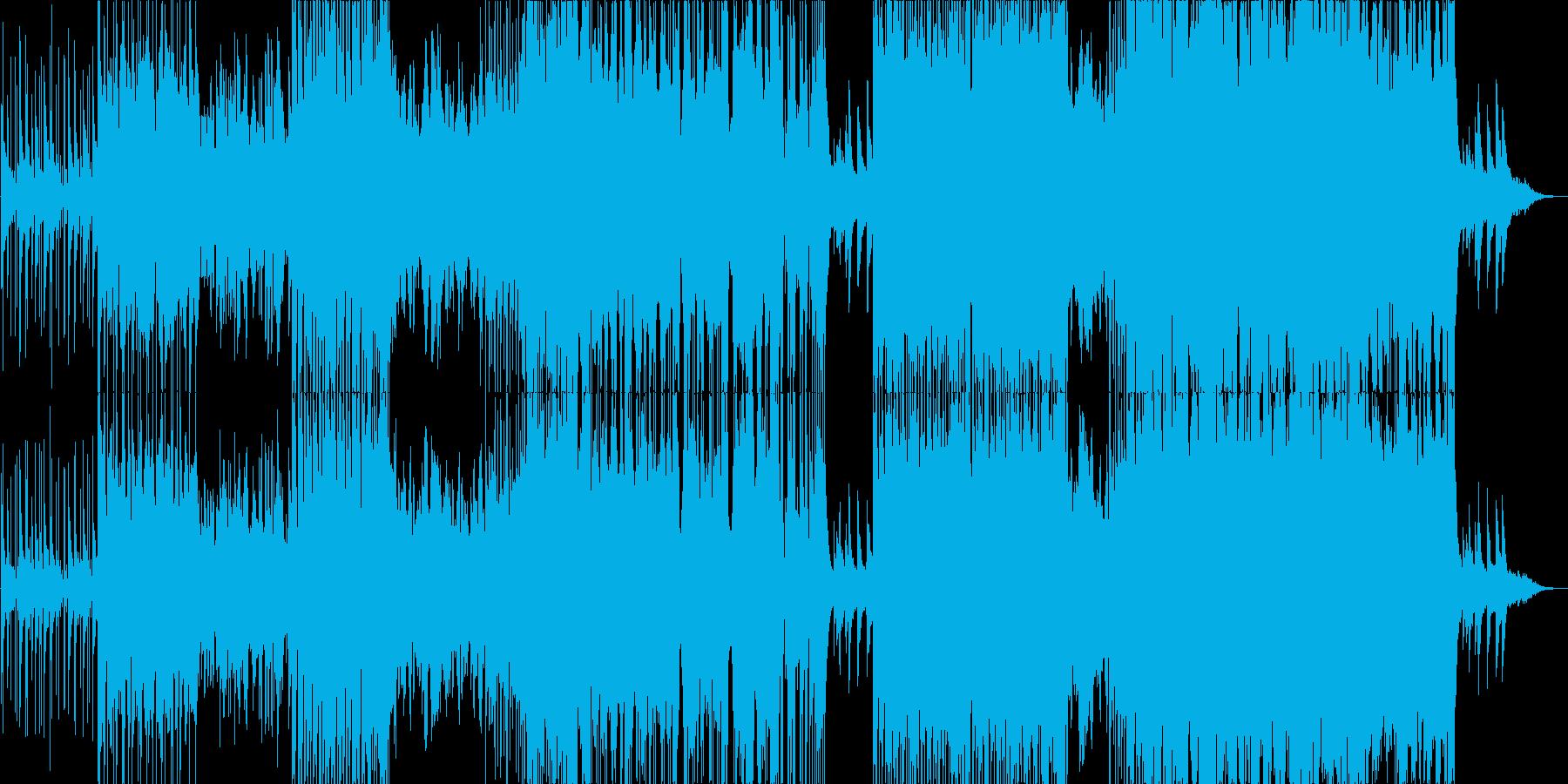 女性英語Voのエレクトロ+生ドラムの再生済みの波形