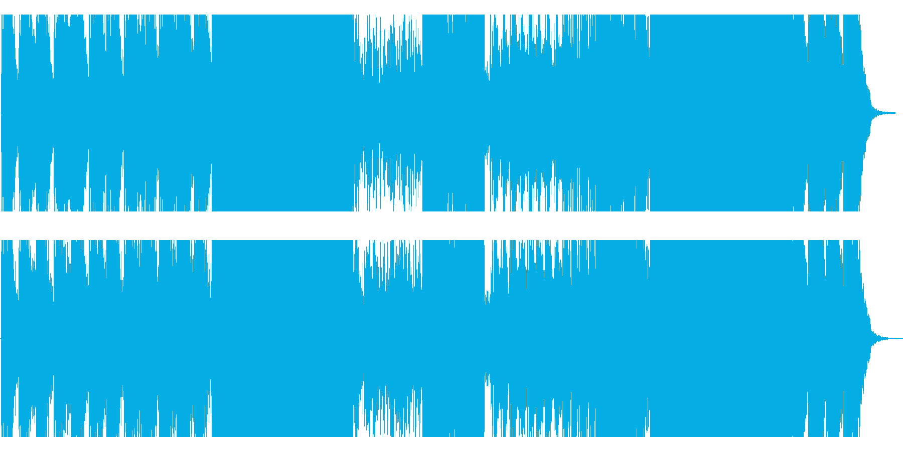 余韻たっぷりな和風の切ない系EDMの再生済みの波形