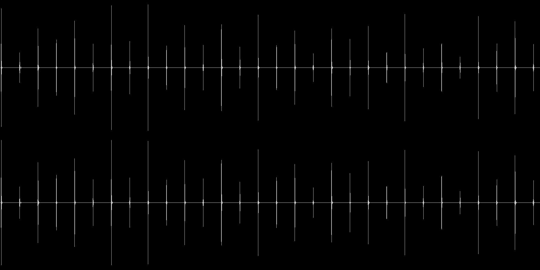 時計の環境音 02の未再生の波形