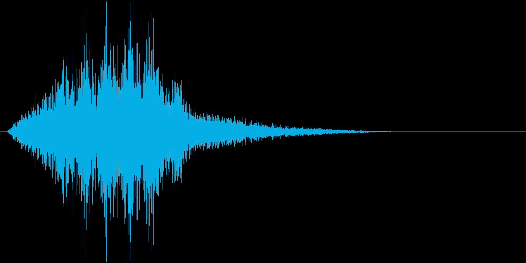 大きな風をイメージした効果音ですの再生済みの波形