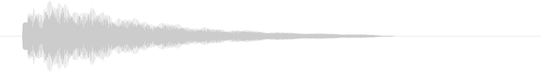 ピカピカに輝く印象の明るい光系電子音の未再生の波形