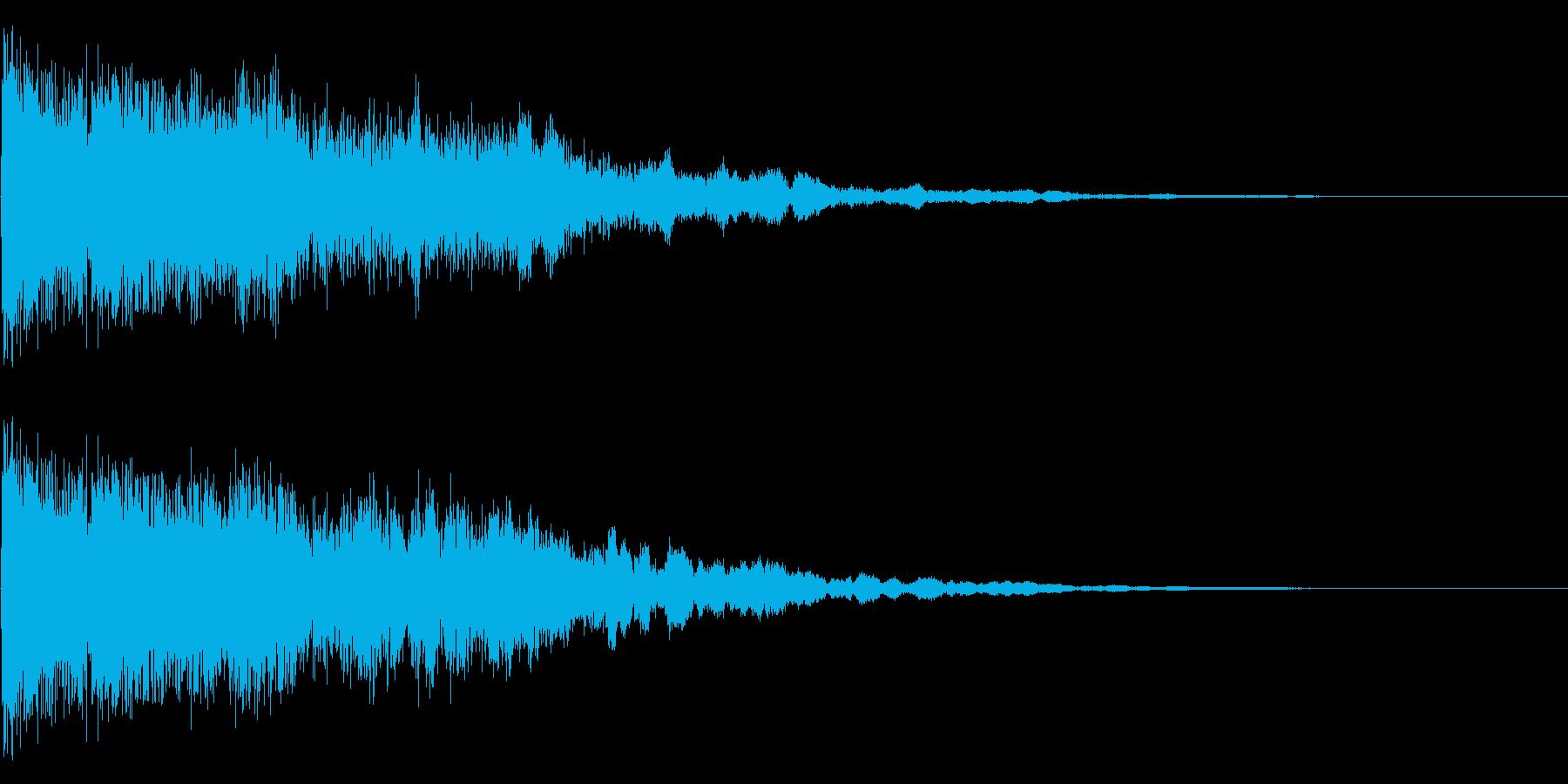 氷をイメージさせるピキーンという音です。の再生済みの波形