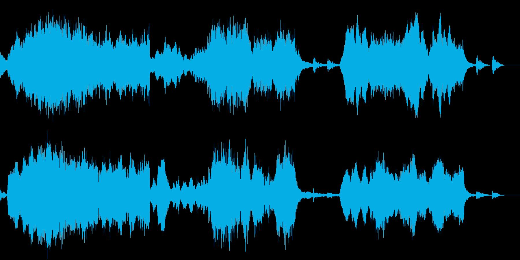 シネマティックな壮大さを弦楽とコーラスでの再生済みの波形