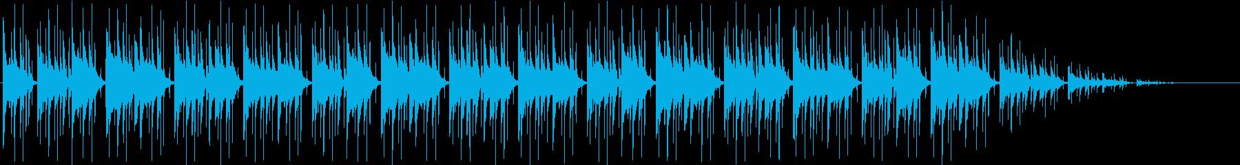 ゲーム・フィールド系モノのループ曲2の再生済みの波形