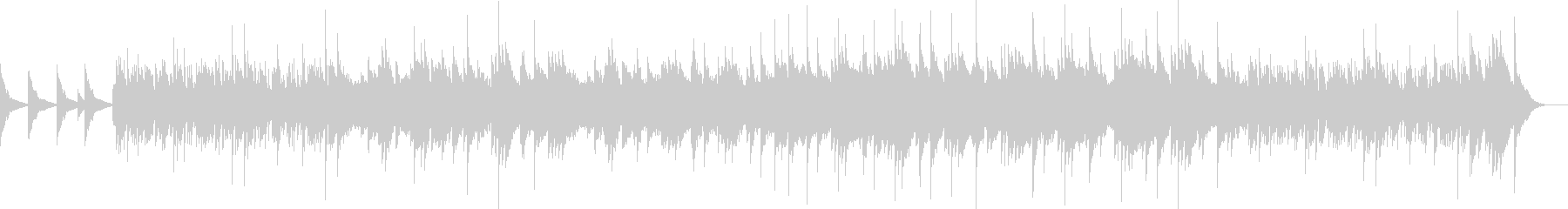 ピアノとストリングスによる映像向きの曲の未再生の波形