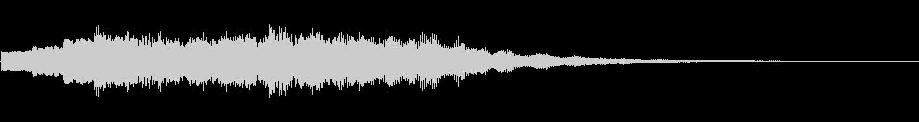 ベルの音の場面転換音の未再生の波形