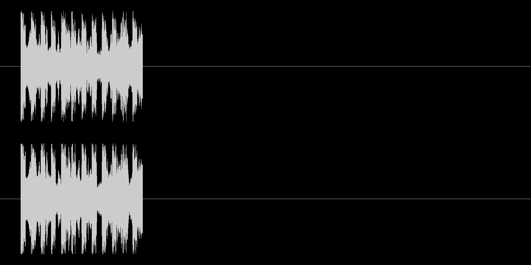 ピピピというインパクトのある不思議なロゴの未再生の波形