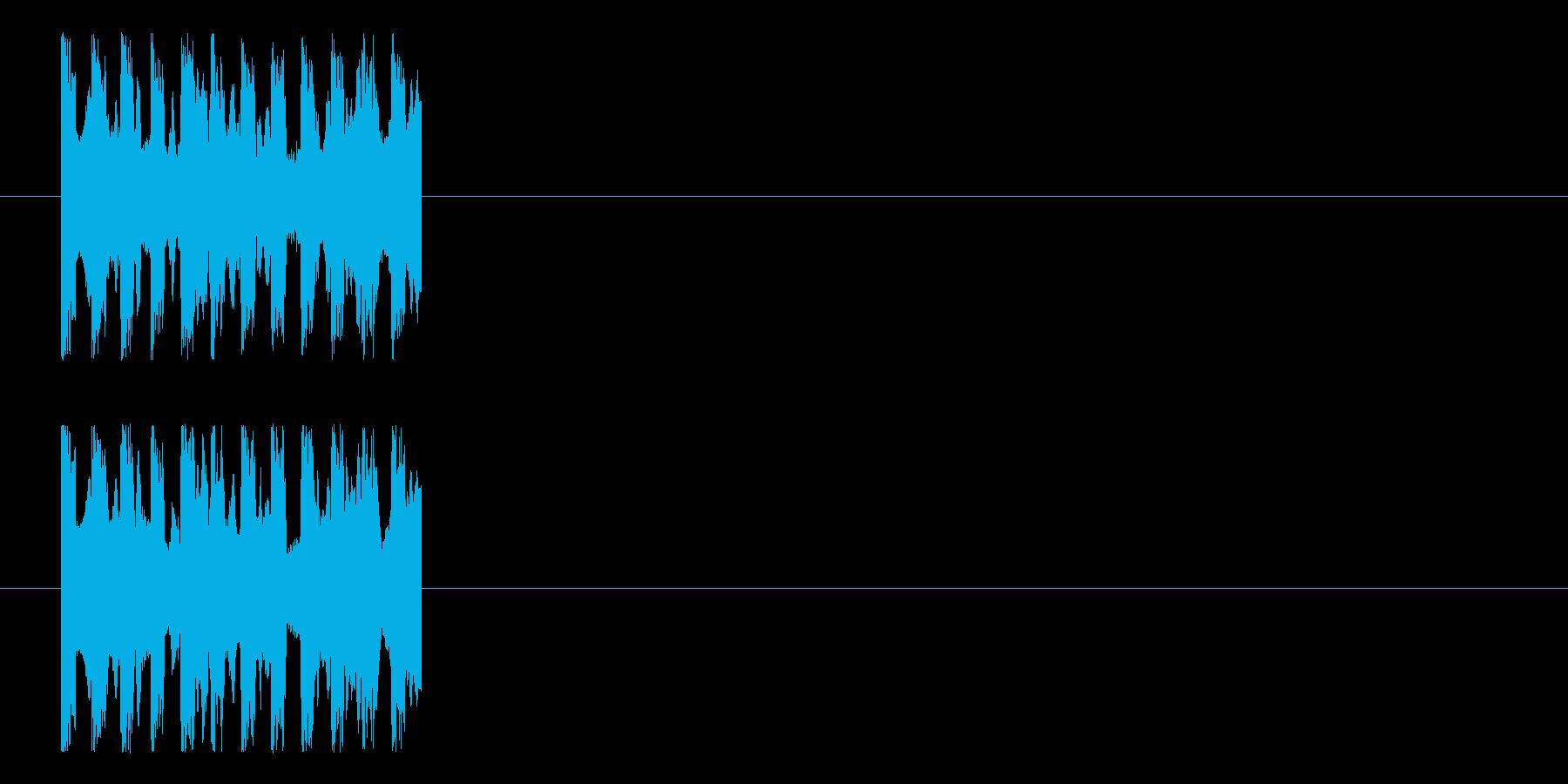 ピピピというインパクトのある不思議なロゴの再生済みの波形