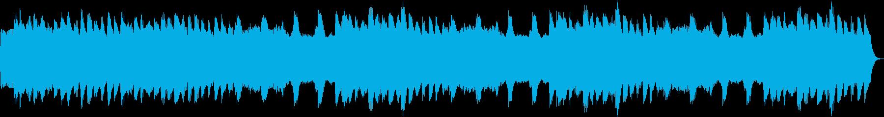 小鳥のさえずりとヒーリング音楽の再生済みの波形