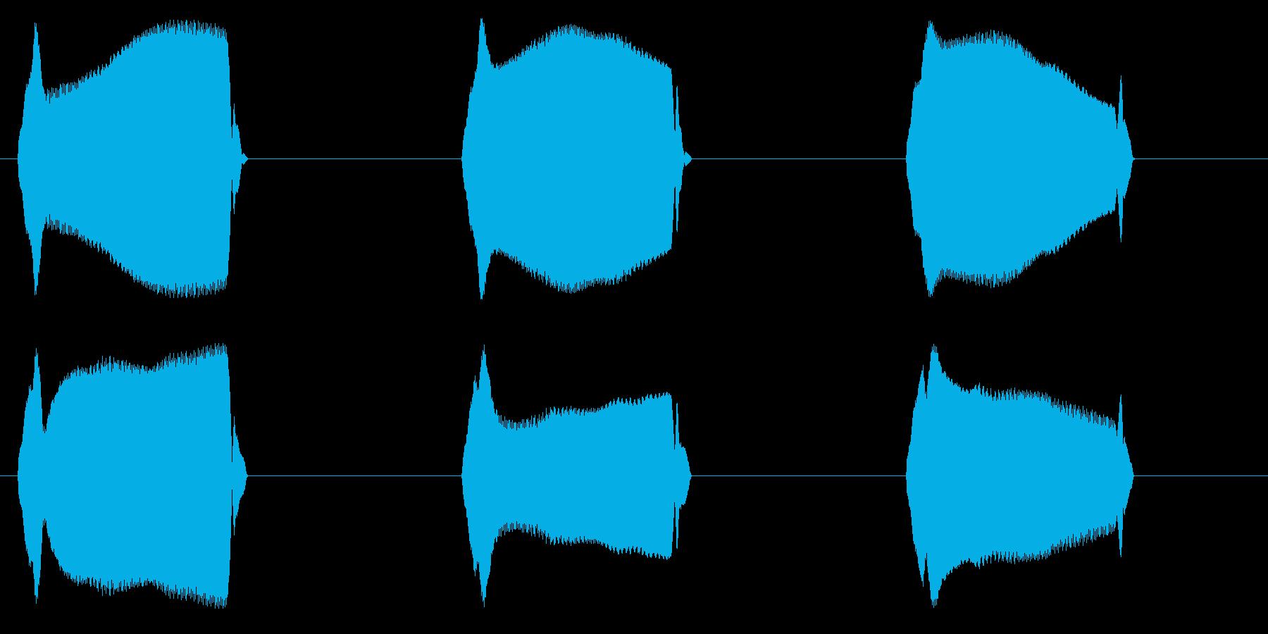 リアルな携帯/スマホのバイブ効果音01!の再生済みの波形