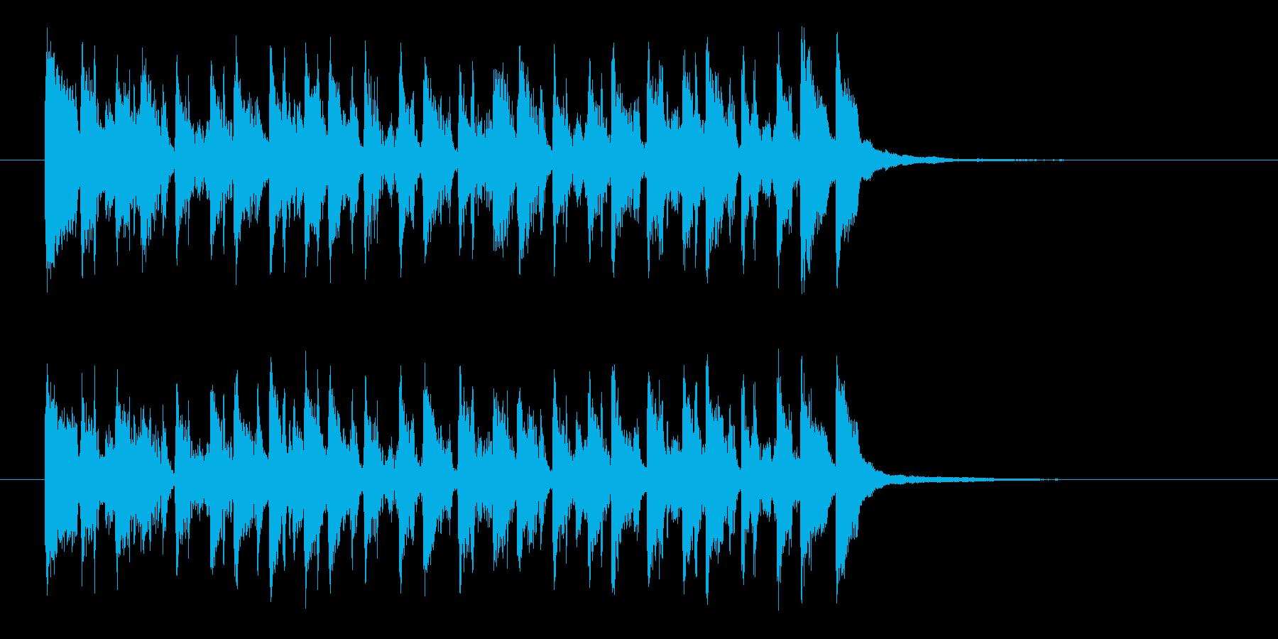 リズミカルでゴキゲンなサンバの再生済みの波形