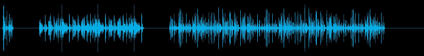 音声、スピーチ文字化けしたスピーチの再生済みの波形
