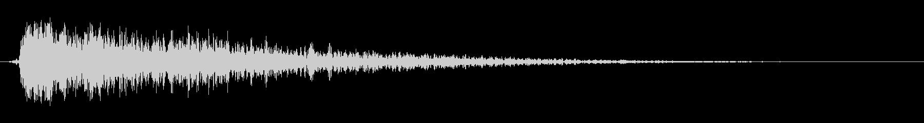 グリッティインパクトブラスト1の未再生の波形