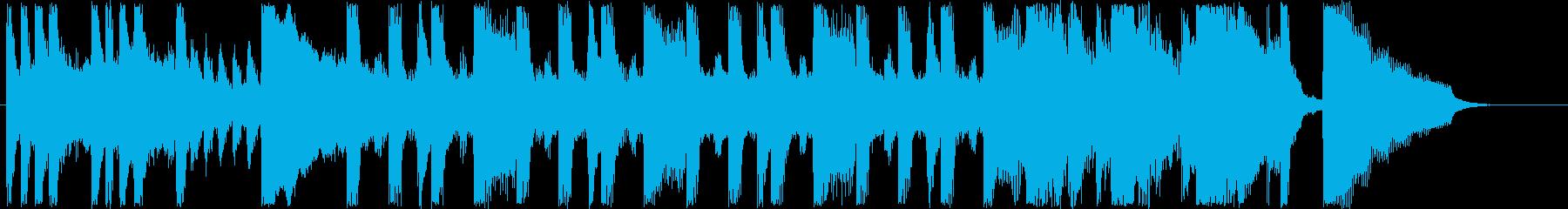 明るく楽しげなシンセなど短めジングルの再生済みの波形