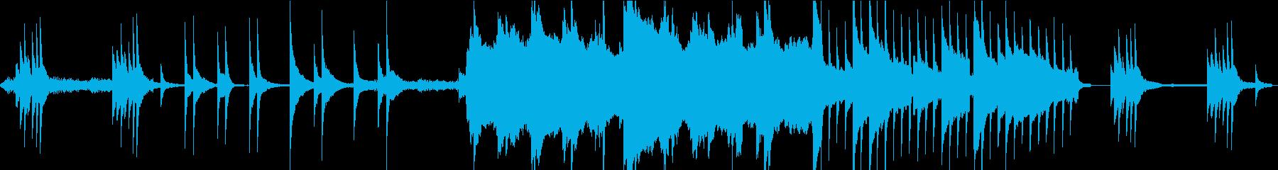 ダークファンタジーな雰囲気のBGM-Lの再生済みの波形