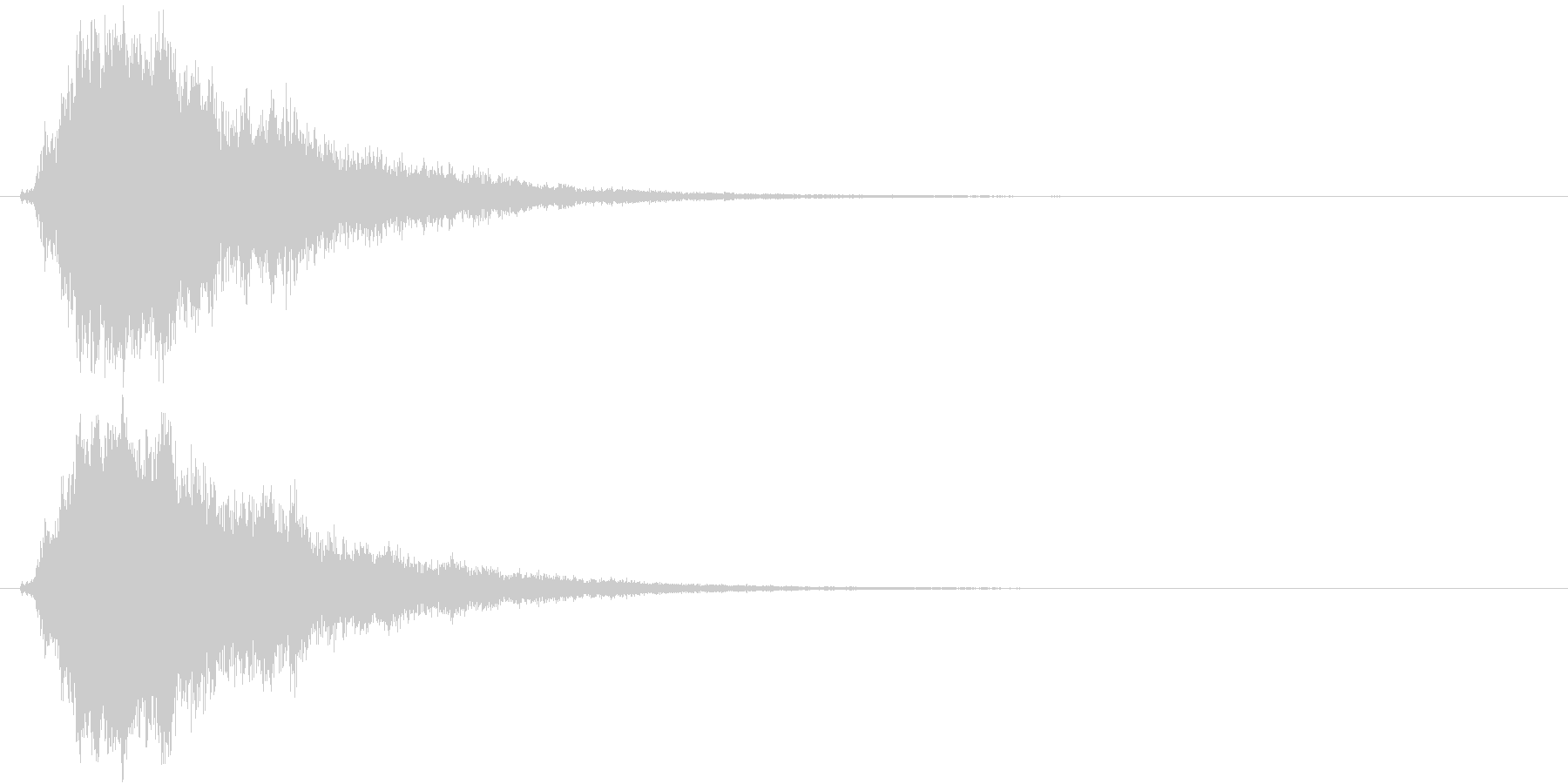 テレン(アイテム使用)の未再生の波形