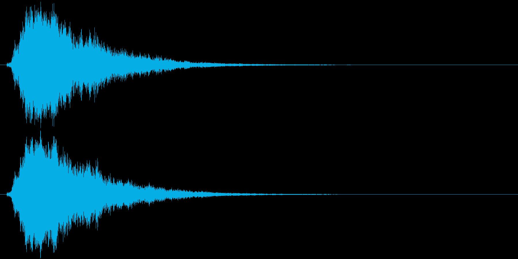 テレン(アイテム使用)の再生済みの波形