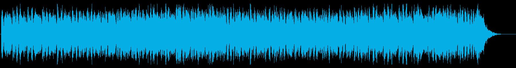 明るいシンプルなビートのEDMの再生済みの波形