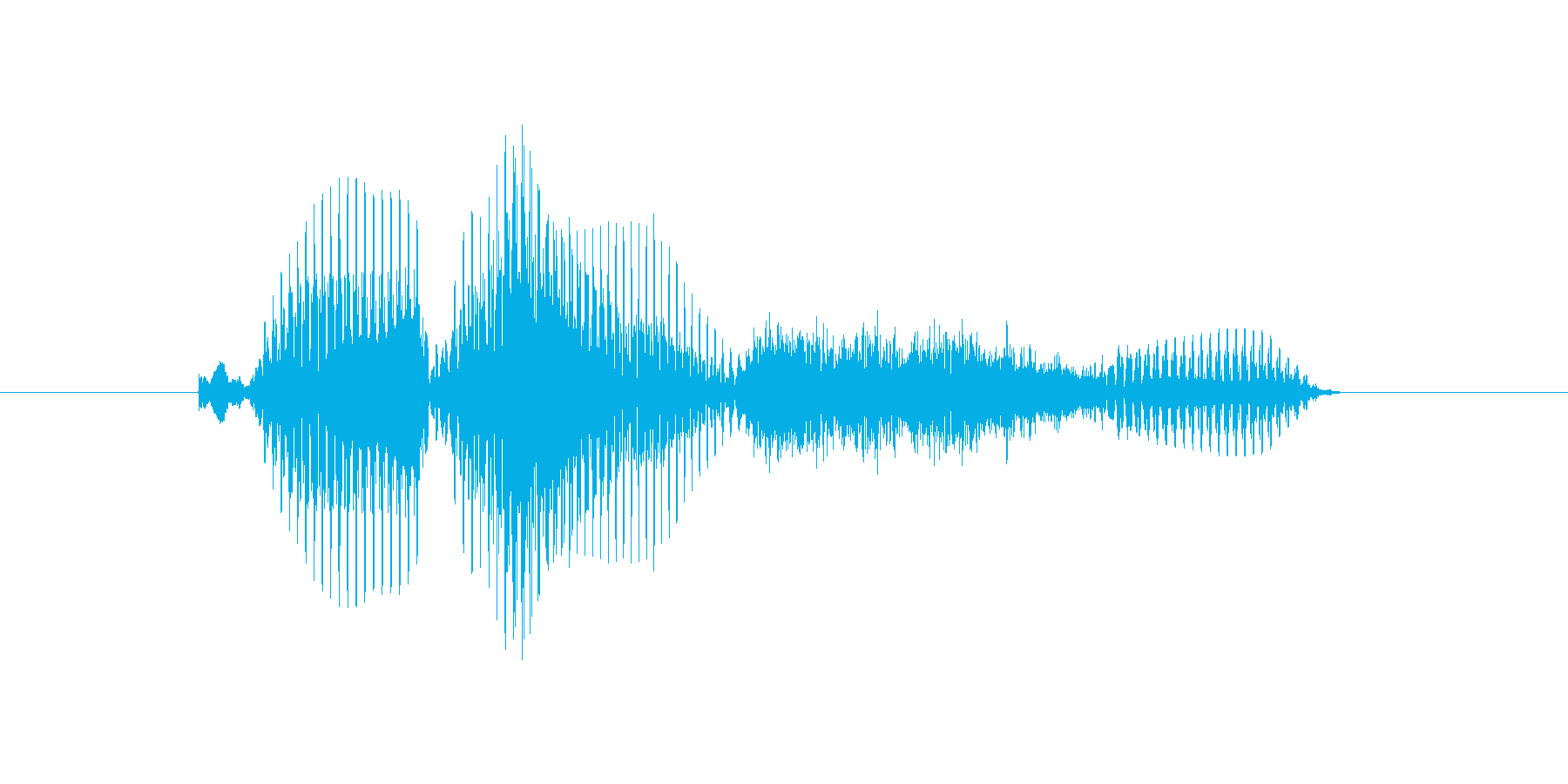 プラスの再生済みの波形