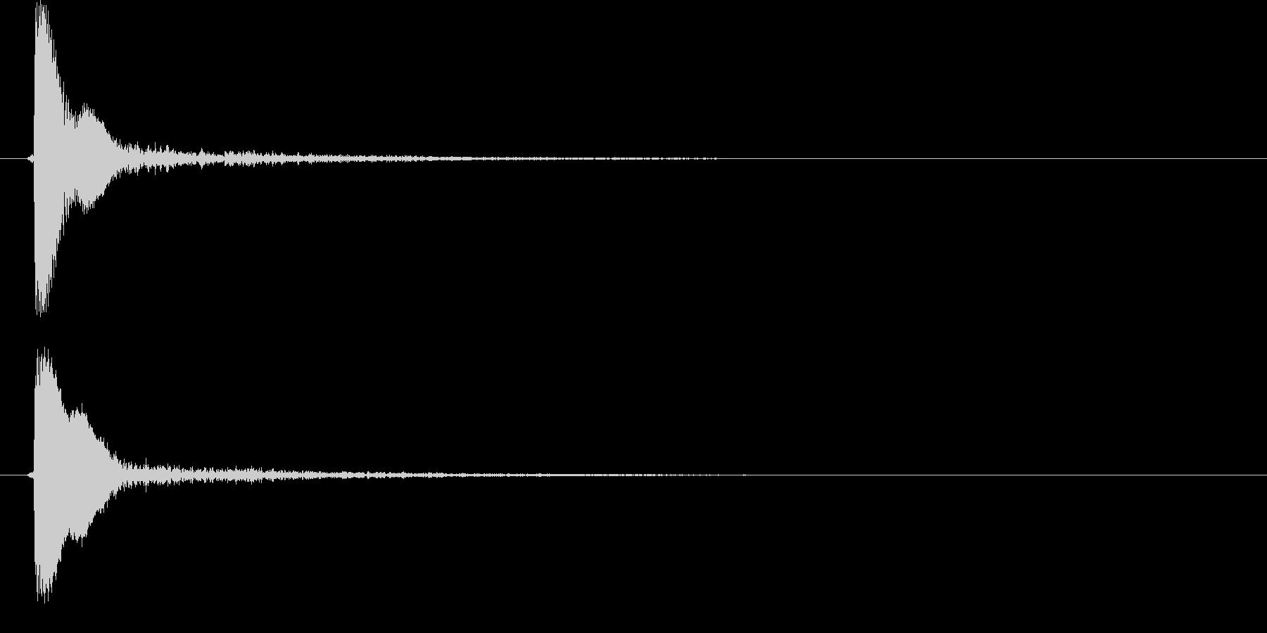 ピョイ(決定音、ポップ、選択)の未再生の波形