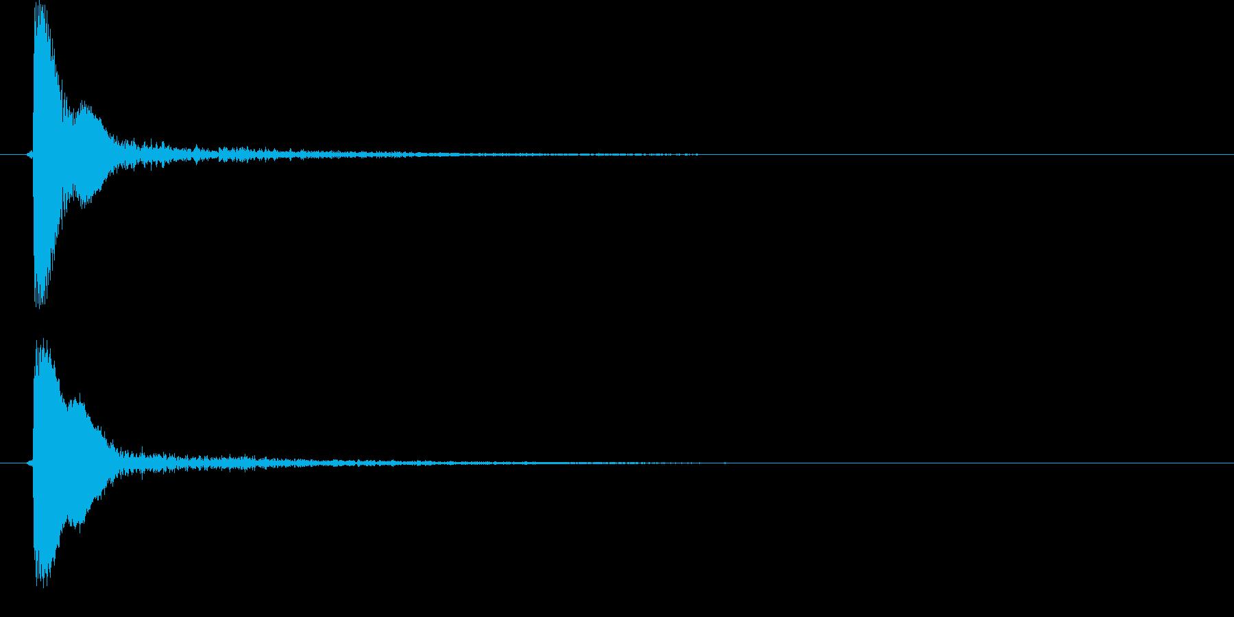 ピョイ(決定音、ポップ、選択)の再生済みの波形