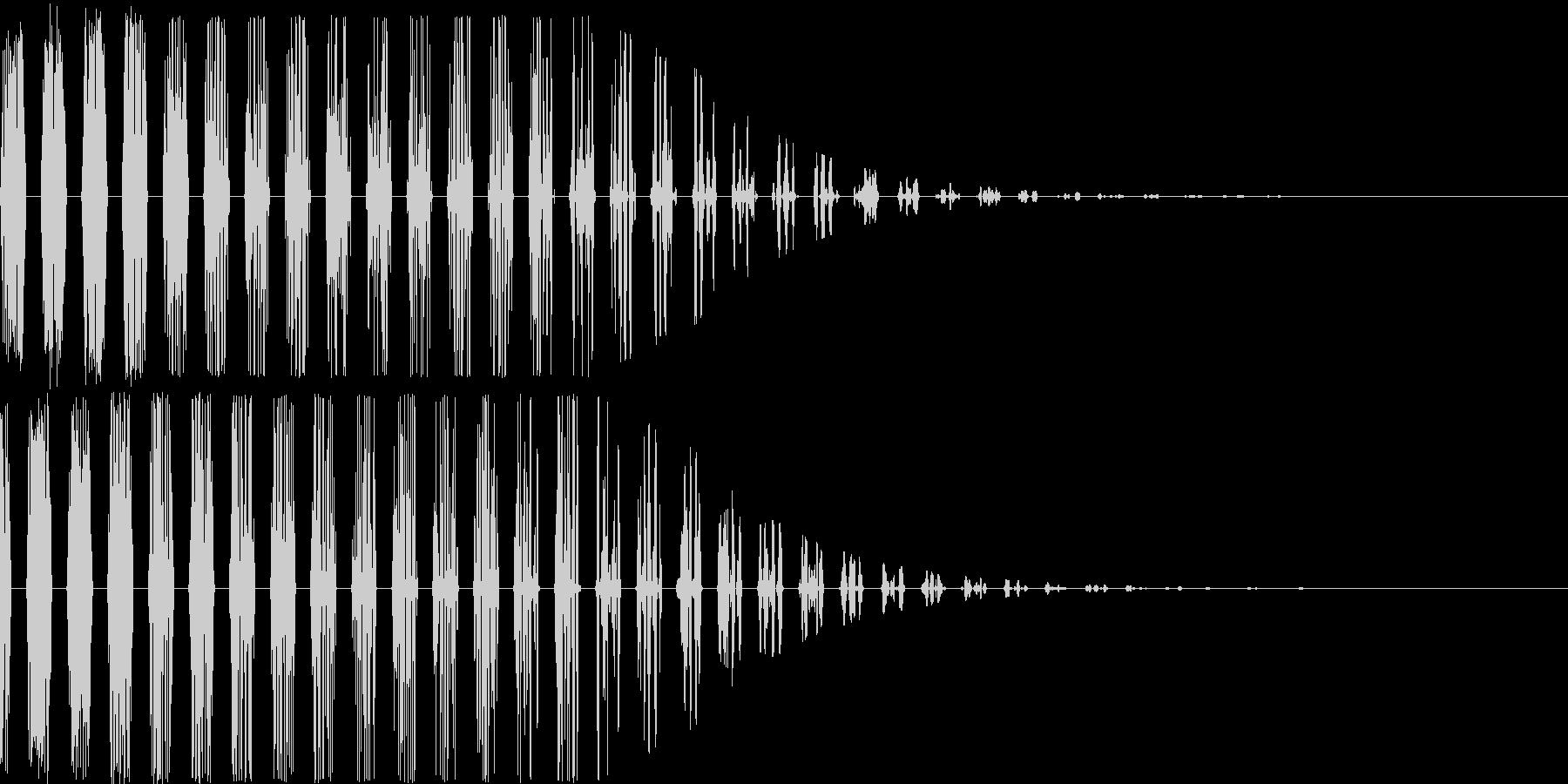 スパッタリングスワイプの未再生の波形