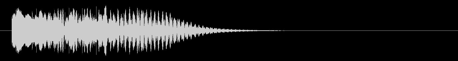 マリンバのグリッサンド(下行)の未再生の波形