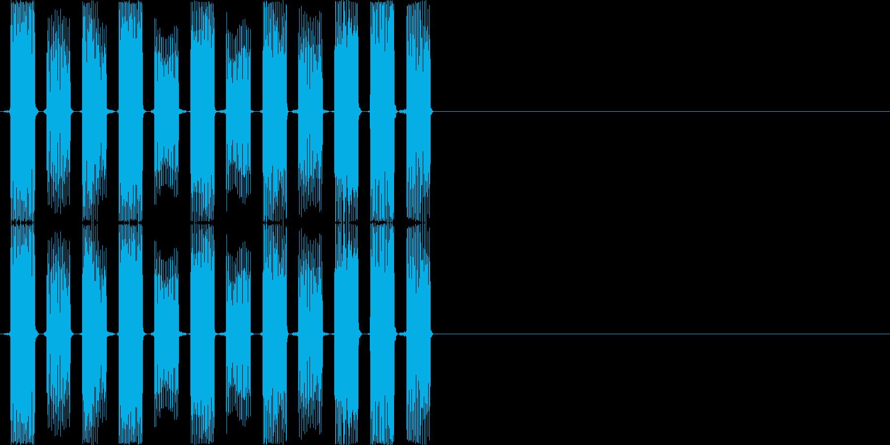 ピロリロピロリロ(PC、ロボット、低め)の再生済みの波形