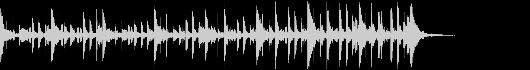 民族系打楽器による単調なトラック v2の未再生の波形