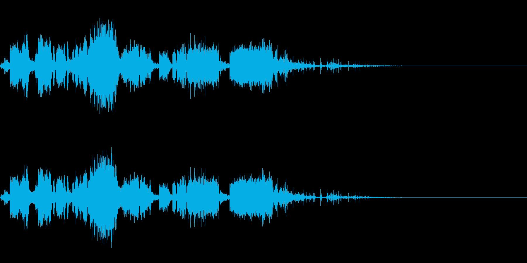 スパーク音-35の再生済みの波形