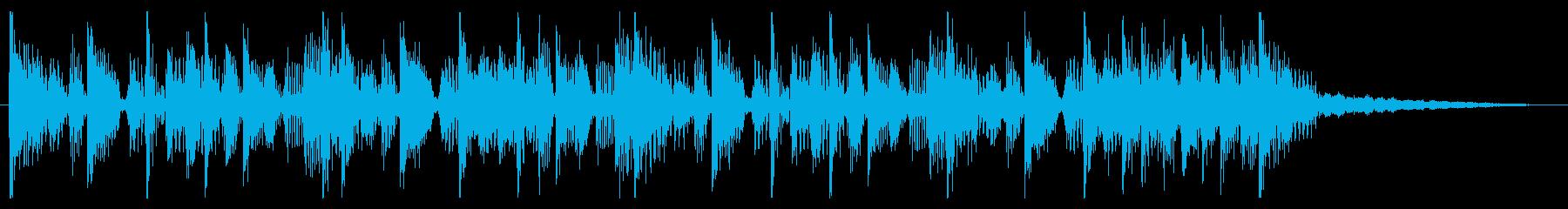 ファンキーなジングル・CM・場面転換の再生済みの波形
