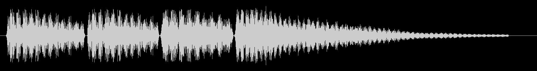 ビブラホーン風のお知らせ音の未再生の波形